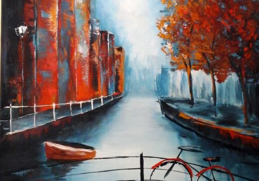 Амстердам – рисуване онлайн